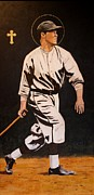 Baseball History Painting Posters - St. Sebastian Patron of Athletes Poster by Ralph LeCompte