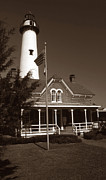 Famous Lighthouses Posters - St. Simon Lighthouse Poster by Skip Willits