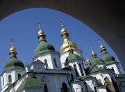 Kiev Framed Prints - St Sophia Cathedral And Archway Framed Print by Axiom Photographic