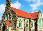 Ceramic Tile Prints - St Thomas Catholic Church Print by Thomas R Fletcher