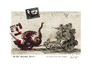 Jacques Mixed Media Metal Prints - St Vincent and the Dragon Metal Print by Chrystle Wolff