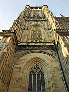 Prague Towers Prints - St Vitus Cathedral Prague - The realms of non-being Print by Christine Till