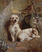 Dog Prints - Stablemates Print by John Fitz Marshall