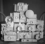 Gary Peterson Metal Prints - Stack o Cameras Metal Print by Gary Peterson