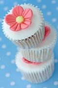 Sweet Spot Prints - Stack of cupcakes Print by Ruth Black