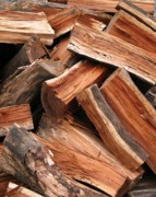 Chopped Photos - Stack of Firewood by Yali Shi
