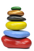 Stability Photos - Stack of multi-colored pebbles by Sami Sarkis