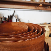 Wooden Bowls Art - Stack of Wooden Bowls by Jetta Productions, Inc