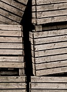 Apple Crates Framed Prints - Stacked Framed Print by Odd Jeppesen