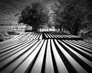 Owens Valley Art - Stacked Rails Laws CA by Troy Montemayor