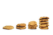 Stability Photos - Stacks of freshly homemade cookies by Sami Sarkis