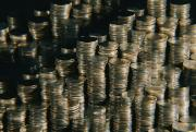 Coins Art - Stacks Of Quarters. The Stacks by Todd Gipstein
