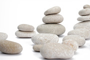 Stability Posters - Stacks of smooth pebble stones Poster by Sami Sarkis
