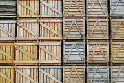 Repetition Photos - Stacks of wooden crates by Sami Sarkis