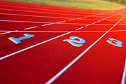 One Metal Prints - Stadium Track Metal Print by Olivier Le Queinec