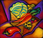 Sandwich Art - Staff for Yummy Salad by Leon Zernitsky