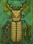 Stag Beetle Print by Anna Folkartanna Maciejewska-Dyba