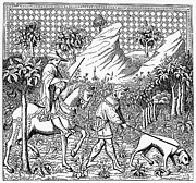 Servant Prints - STAG HUNT, 14th CENTURY Print by Granger