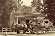 Old West Art - Stage Coach Stop - Jackson Hole WY by Christine Till