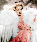 Ostrich Feathers Photo Prints - Stage Fright, Marlene Dietrich Wearing Print by Everett
