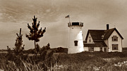 Cape Cod Mass Metal Prints - Stage Harbor Lighthouse Metal Print by Skip Willits