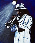 Trumpet Painting Originals - Stage Light by Richard Roselli