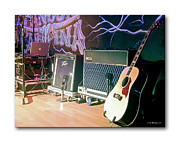 Microphone Stand Prints - Stage Set Print by Brian Wallace