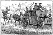 18th Century Photos - STAGECOACH, 18th CENTURY by Granger