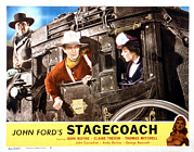 John Wayne Posters - Stagecoach, From Left George Bancroft Poster by Everett