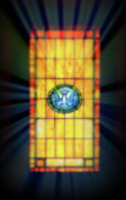 Art Glass Picture Prints - Stain Glass Print by Perry Webster