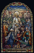 Palm Sunday Posters - Stained Glass - Palm Sunday Poster by Munir Alawi