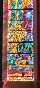 Colored Background Originals - Stained Glass Art Work by Anthony Walker Sr
