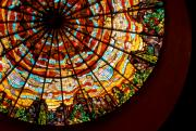 Glass Wall Prints - Stained Glass Ceiling Print by Jerry McElroy