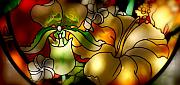 Stained Mixed Media Metal Prints - Stained Glass Metal Print by Craig Incardone