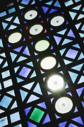 Filtered Light Photo Posters - Stained Glass Cross Poster by Jeremy Woodhouse