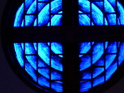 Sharon Spade - Kingsbury - Stained Glass in Blue