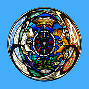 Sphere Framed Prints - Stained glass in the sphere Framed Print by Robert Gipson