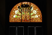 Nashville Tennessee Metal Prints - Stained Glass in the Trainstation Nashville Metal Print by Susanne Van Hulst
