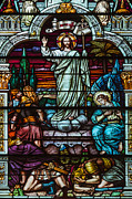 Christian Artwork Photos - Stained Glass Jesus by Anthony Citro
