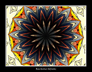 Lewiston Digital Art Prints - Stained Glass Kaleidoscope 33 Print by Rose Santuci-Sofranko