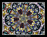 Jesus Artwork Digital Art Posters - Stained Glass Kaleidoscope 38 Poster by Rose Santuci-Sofranko