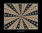 Jesus Artwork Digital Art Posters - Stained Glass Kaleidoscope 39 Poster by Rose Santuci-Sofranko