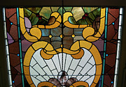 View  Glass Art Prints - Stained Glass LC 01 Print by Thomas Woolworth