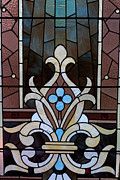 View  Glass Art Prints - Stained Glass LC 03 Print by Thomas Woolworth