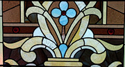 Fine American Art Glass Art Framed Prints - Stained Glass LC 04 Framed Print by Thomas Woolworth