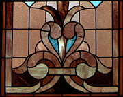 Greeting Card Glass Art Posters - Stained Glass LC 06 Poster by Thomas Woolworth