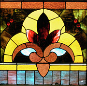Stained Glass Lc 07 Print by Thomas Woolworth