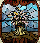 Church Glass Art Metal Prints - Stained Glass LC 11 Metal Print by Thomas Woolworth