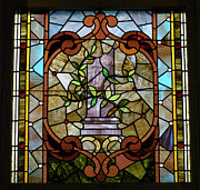 Church Glass Art Prints - Stained Glass LC 12 Print by Thomas Woolworth