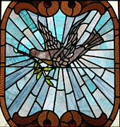 Posters Glass Art - Stained Glass LC 14 by Thomas Woolworth